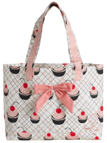 Jessie Steele Cherry Cupcake Tote Bag